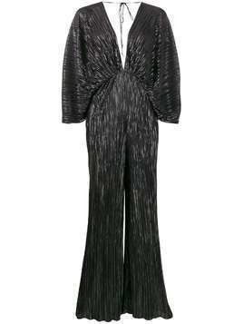 ROTATE metallic details jumpsuit - Black