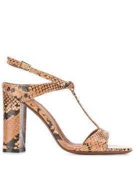 L'Autre Chose snakeskin effect T-bar sandals - Brown