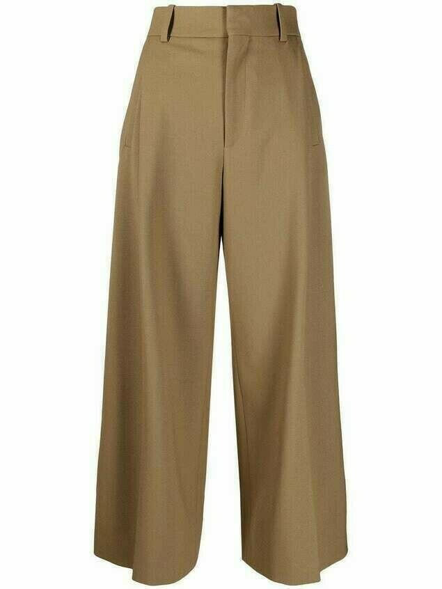 Chloé cropped trousers - Brown
