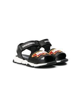 Dsquared2 Kids touch strap sandals - Black