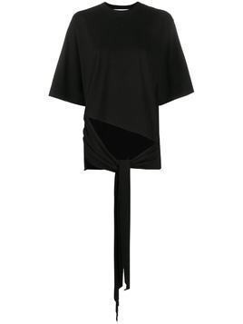 Ssheena short sleeve draped front T-shirt - Black