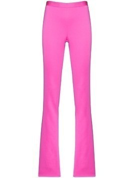 Versace high-waisted flared trousers - PINK