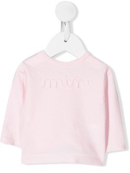 Absorba embroidered slogan jumper - PINK
