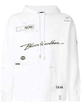 Blood Brother Yours embroidered hoodie - White