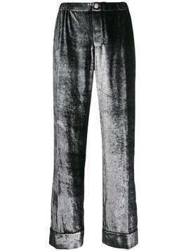 F.R.S For Restless Sleepers wide leg shimmer trousers - Silver