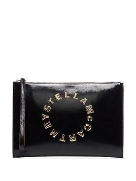 Stella McCartney Stella Logo clutch bag - Black