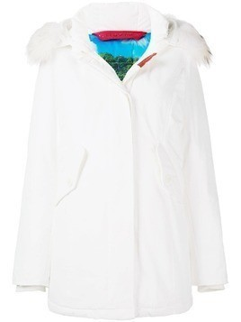 Freedomday feather down hooded coat - White