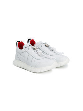 Bumper lace-up sneakers - White