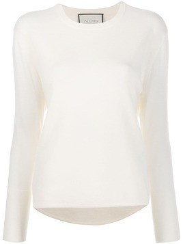 Alexis long sleeve loose fit top - White