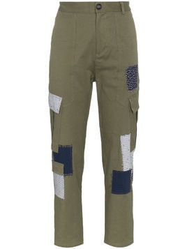 78 Stitches Cotton combat trousers with patches - Green