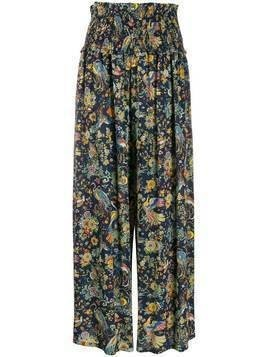 Tory Burch high-waist palazzo trousers - Blue
