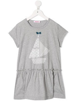 Familiar Sailboat long top - Grey