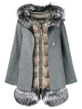 Cara Mila Aurora gilet coat set - Grey