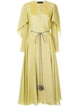 Anna October cape wrap dress - Yellow