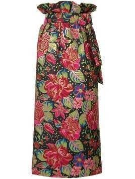 Manish Arora floral print midi skirt - Multicolour