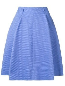 Moschino Pre-Owned geometric knit pleated skirt - Blue