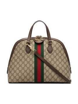 Gucci Ophidia GG Supreme Dome Top Handle Bag - Brown