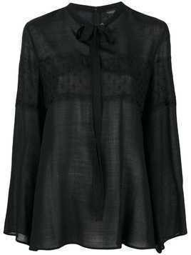 Giambattista Valli chest lace blouse - Black