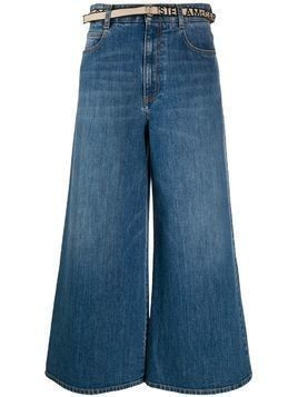 Stella McCartney cropped wide leg jeans - Blue