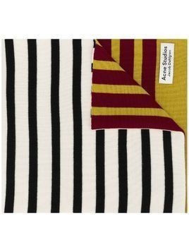 Acne Studios x Jacob Dahlgren colour-block striped scarf - White