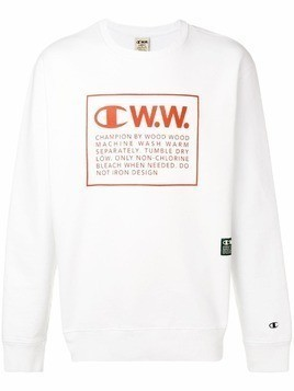 Champion X Wood Wood logo print sweatshirt - White