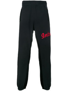 Intoxicated logo embroidered track pants - Black