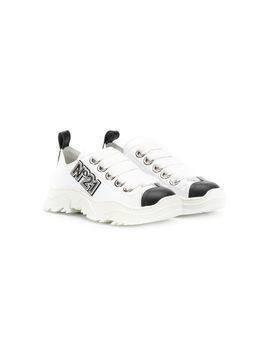 Nº21 Kids TEEN Billy logo sneakers - White
