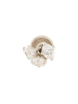 E.M. crystal stud earring - Silver
