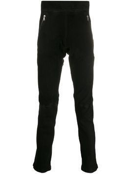 Isaac Sellam Experience slim fit leather trousers - Black