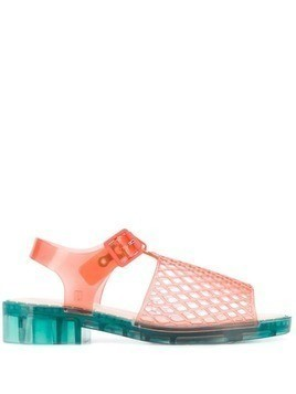 Opening Ceremony mesh look jelly sandals - Red