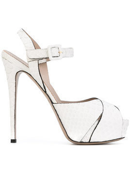 Le Silla platform stiletto sandals - White