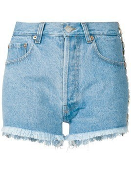 Forte Dei Marmi Couture embellished denim shorts - Blue