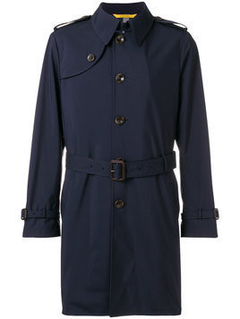 Canali short trench coat - Blue