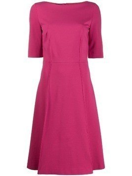 Les Copains flared midi dress - Pink
