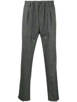 Barba drawstring tailored trousers - Grey