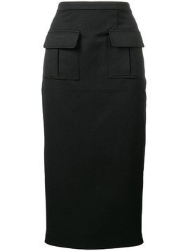 Maggie Marilyn twill pencil skirt - Black