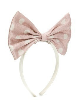 Hucklebones London bow detail headband - PINK