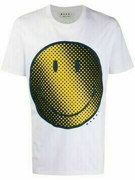 Marni smiley face print T-shirt - White