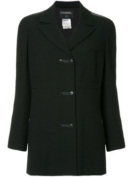 Chanel Pre-Owned long sleeve coat - Black