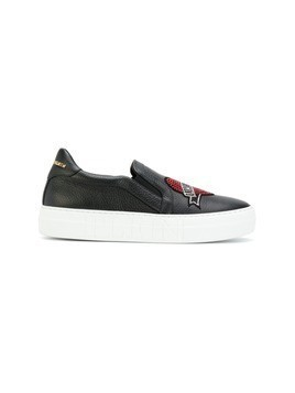 Philipp Plein unlovable heart patch sneakers - Black