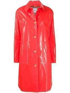 Aspesi Gele'e single-breasted raincoat - ORANGE