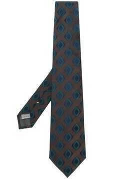 Canali patterned tie - Brown