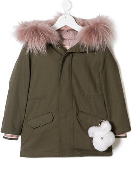 Yves Salomon Enfant pompom jacket - Green