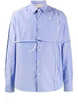 Marni ripped cotton shirt - Blue
