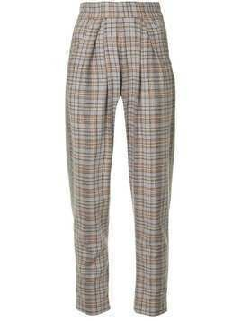 Anouki check tapered trousers - Pink