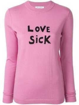 Bella Freud Love Sick slogan sweater - PINK