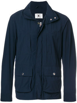 Kired short button jacket - Blue