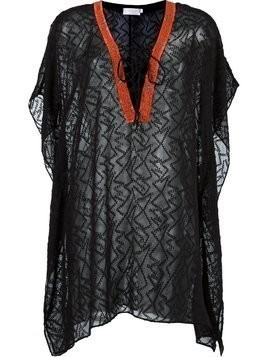 Brigitte sheer beach dress - Black