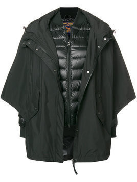 Woolrich oversized layered coat - Black