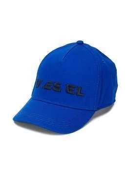 Diesel Kids embroidered logo cap - Blue
